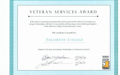 Congratulations to the VRC for winning the Veteran Service Award!